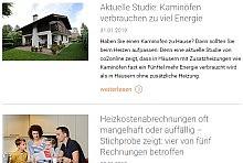 Screenshot: News mit Foto, Überschrift, Datum, Teaser und Link