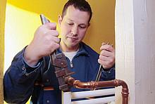 Kampagnenfoto Tauschen eines Thermostats
