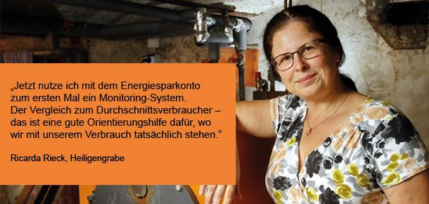 Energiesparkonto-Nutzerin Ricarda Rieck sagt in diesem Testimonial, wie der Service von co2online ihr beim Energie sparen hilft.